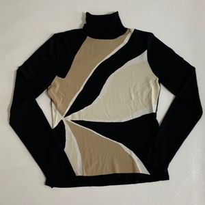 The Limited   Color Block Turtleneck Sweater